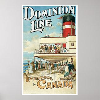 Línea nave BRITÁNICA del dominio Poster