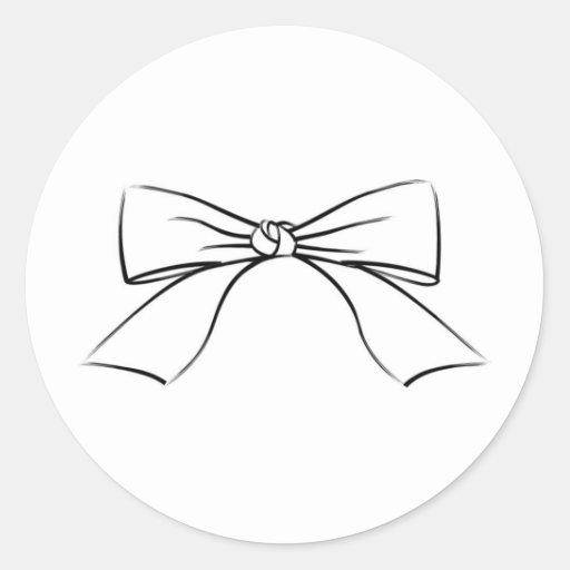 Línea negra arco de la cinta etiqueta redonda