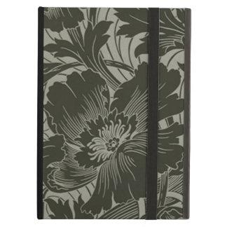 Línea negra caso de la flor del iPad del arte