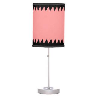 Línea negra frontera 2 del diseño lámpara de mesa