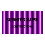Línea negra púrpura modelo tarjeta personal