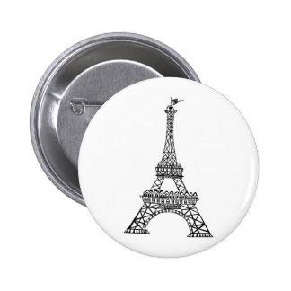 Línea negra torre Eiffel Pin