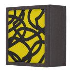 Línea negra y amarilla caja de la curva de regalo  caja de recuerdo de calidad