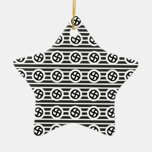 Línea papel del drenaje del diseño del extracto adorno navideño de cerámica en forma de estrella