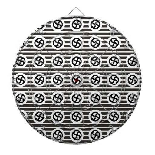 Línea papel del drenaje del diseño del extracto de tablero dardos