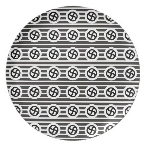 Línea papel del drenaje del diseño del extracto de platos para fiestas