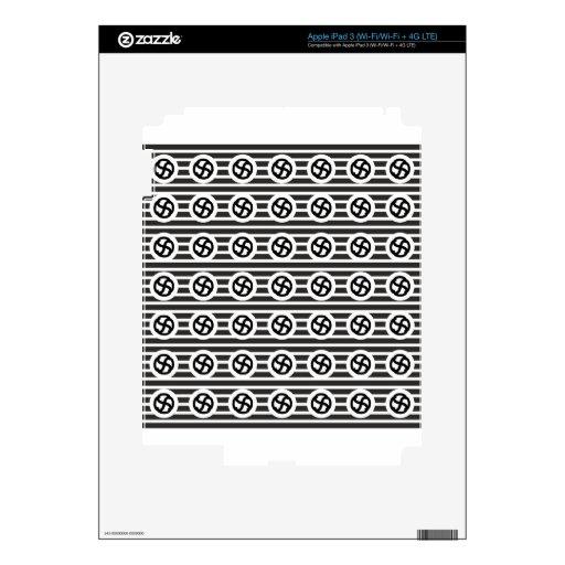 Línea papel del drenaje del diseño del extracto de iPad 3 skin