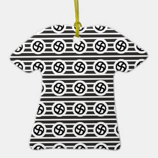 Línea papel del drenaje del diseño del extracto ornamento de navidad