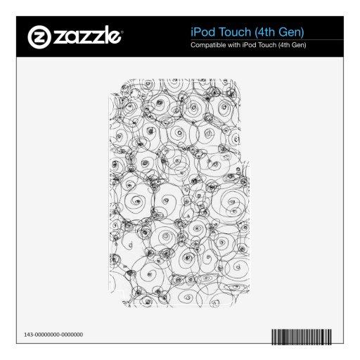 Línea papel Fineart del drenaje del diseño del bos Skins Para iPod Touch 4G