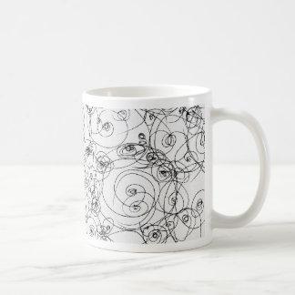 Línea papel Fineart del drenaje del diseño del bos Taza De Café