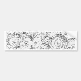 Línea papel Fineart del drenaje del diseño del Pegatina Para Auto
