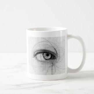 Línea papel Fineart E del drenaje del diseño del b Tazas De Café