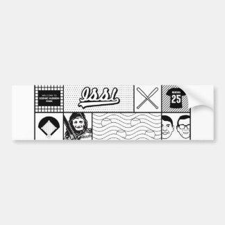 Línea pegatina para el parachoques del arte pegatina para auto