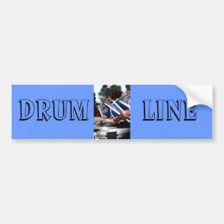 Línea pegatina para el parachoques del tambor pegatina para auto