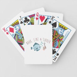 Línea plomo del gancho baraja cartas de poker