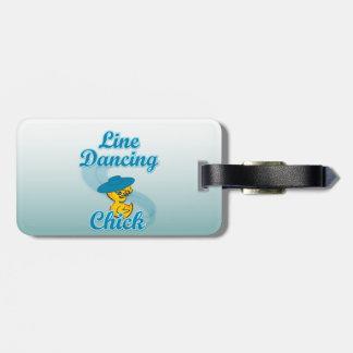 Línea polluelo #3 del baile etiquetas de equipaje