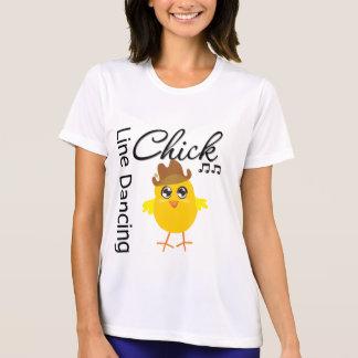 Línea polluelo del baile camisetas