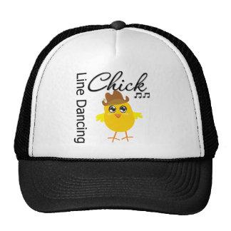 Línea polluelo del baile gorras de camionero