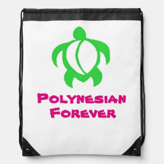 LineA Polynesian Forever Honu Trio Drawstring Bag