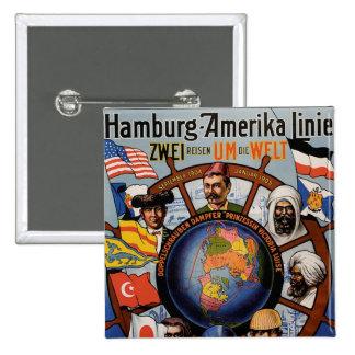 Línea poster de Hamburgo Amerika Pins