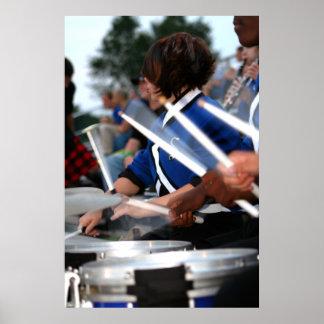 Línea poster del tambor