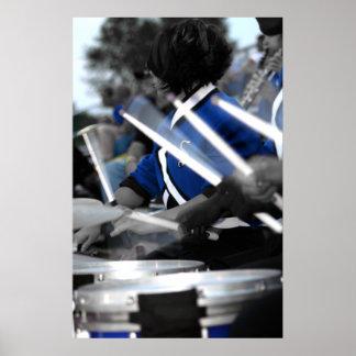 Línea poster del tambor de Colorized