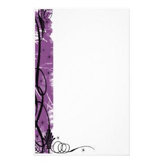 línea púrpura del swirlie papeleria de diseño