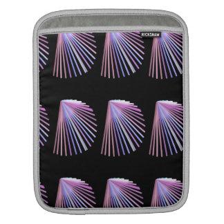 Línea púrpura diseño del Seashell de la playa del Funda Para iPads