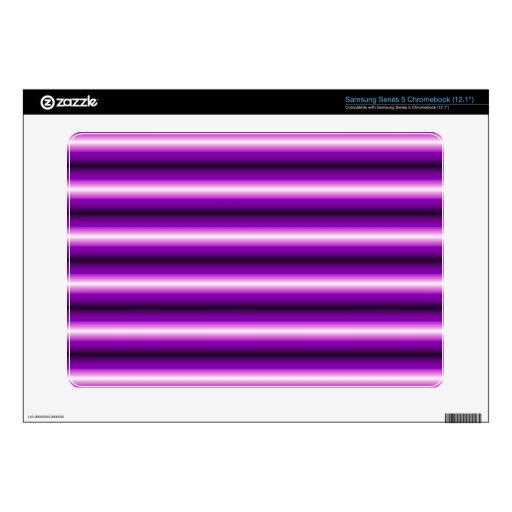 Línea púrpura modelo samsung chromebook skin