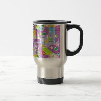 Línea púrpura taza de viaje de acero inoxidable
