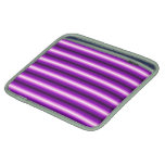 Línea púrpura y negra fundas para iPads