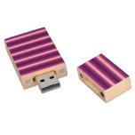 Línea púrpura y negra pen drive de madera USB 2.0