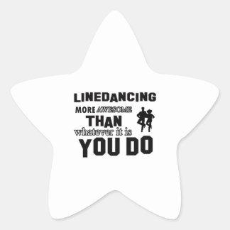 Línea que baila diseños impresionantes pegatina en forma de estrella