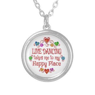 Línea que baila el lugar feliz colgante redondo
