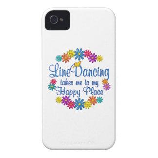 Línea que baila el lugar feliz iPhone 4 cárcasa