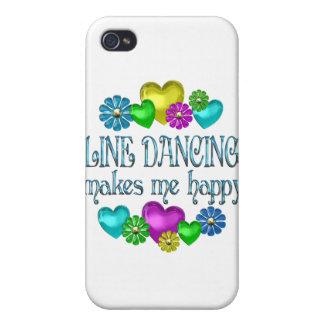 Línea que baila Happinness iPhone 4 Carcasas