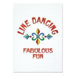 Línea que baila la diversión fabulosa invitación 12,7 x 17,8 cm