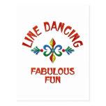 Línea que baila la diversión fabulosa tarjetas postales