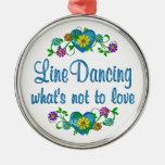 Línea que baila para amar ornamento para reyes magos