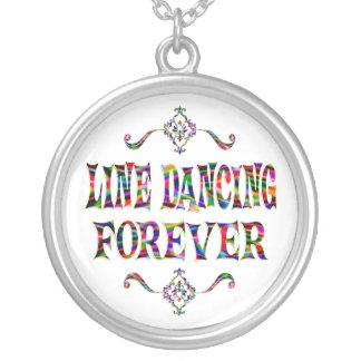 Línea que baila para siempre colgante redondo