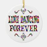 Línea que baila para siempre ornamento de reyes magos