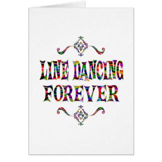 Línea que baila para siempre tarjeta de felicitación