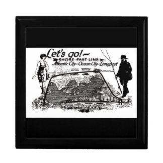 Línea rápida caja 1910 de regalo del vintage de cajas de regalo