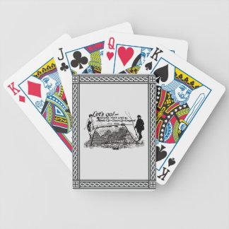 Línea rápida vintage 1910 de la orilla de las baraja de cartas