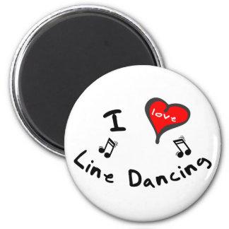 Línea regalos del baile - línea de corazón de I ba Imán Redondo 5 Cm
