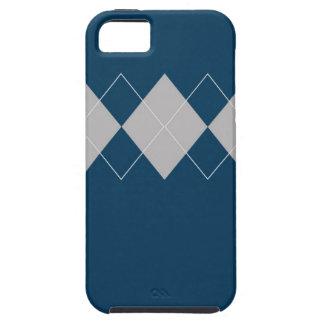 Línea retra estilos coloridos de Argyle del diseño iPhone 5 Funda