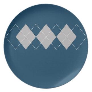 Línea retra estilos coloridos de Argyle del diseño Platos