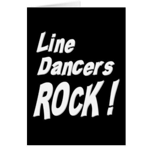 ¡Línea roca de los bailarines! Tarjeta de felicita