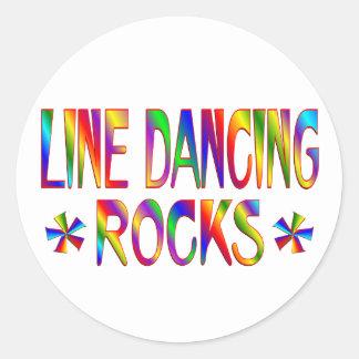 Línea rocas del baile etiqueta redonda