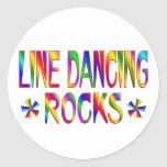 Línea rocas del baile pegatina redonda